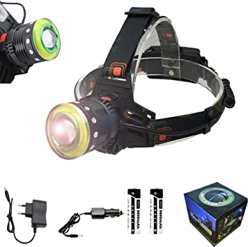DEPALMERA✮ Linterna Frontal LED Recargable de Cabeza XML-T6 ...