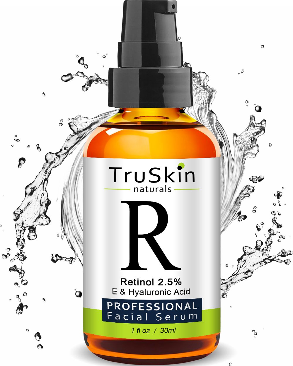 TruSkin RETINOL Serum for Wrinkles, Fine Lines, contains Vitamin A, E and Hyaluronic Acid, Organic Green Tea, Jojoba Oil, BEST Anti Wrinkle Facial Serum. 1oz