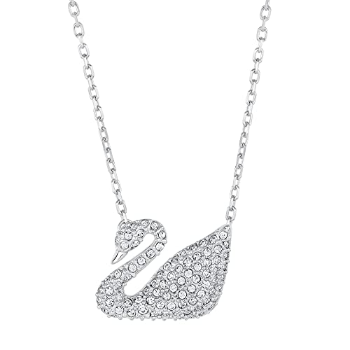Amazon.com  Swarovski Crystal Swan Necklace  Pendant Necklaces  Jewelry abeeabff0a