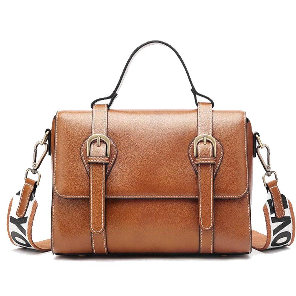 JUNBOSI Frau Leder Handtasche Sommer Retro Messenger Bag Schulter Sling Einfache Handtasche Damen Handtasche Burgund, Schwarz, Karamell
