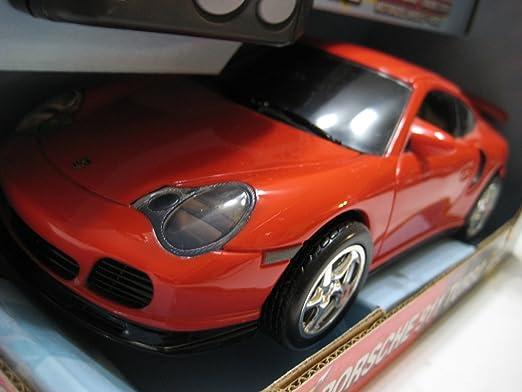 Amazon.com: Toymax Mighty Mos (China Red Porsche 911 Turbo Plastic Electric 1:20 Nib: Toys & Games