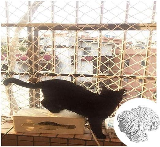 Balcón Gato Red de Seguridad, Escalera Redes Anticaída Aislamiento Red Anti- Gato Pájaro Malla de Protección Baloncesto Golf Jardín Carril Red de Nylon Camión Carga ...