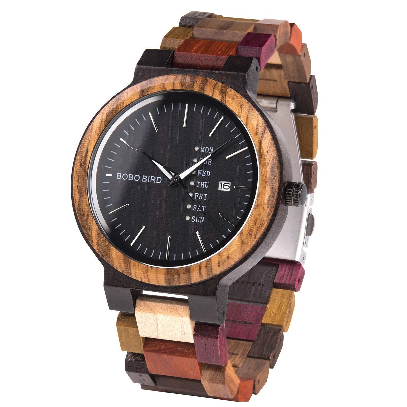 Image result for Guanke Men's Wood Quartz Watch