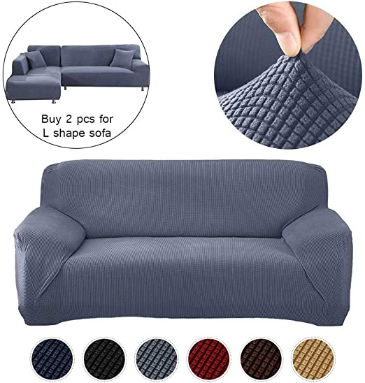 Elastic Sofa Couch Cover Slipcover L Shape Protector Micro Suede Sofa Cover gift