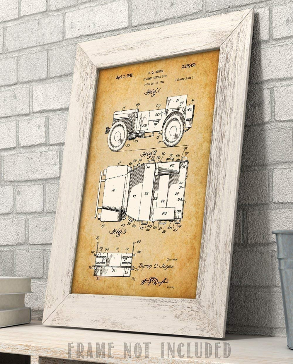 200mm x 285mm VINTAGE SIGN DESIGNS I Want You to Look After Your Willys Jeep Qualit/é M/étal Signe