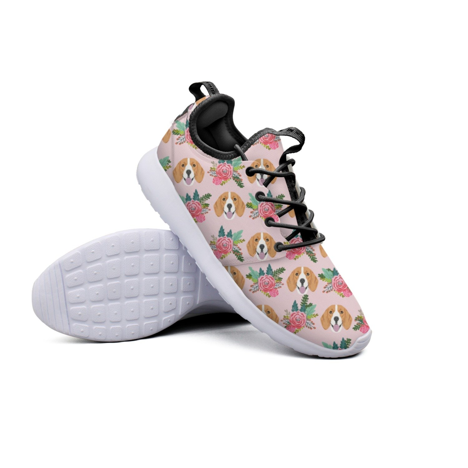 YYuuijk Dog Love Red Rose Net Women's Tennis Shoes Casual Cute Comfortable Trendy Hip Hop Retro Retro Vintage Popular Mesh Lightweight Tennis Sneakers