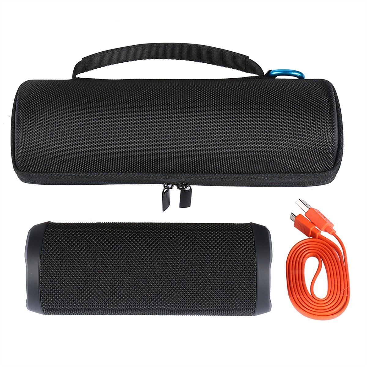FidgetFidget Travel Zipper Case Cover Protective Bag for JBL Flip4 Wireless Bluetooth Speaker