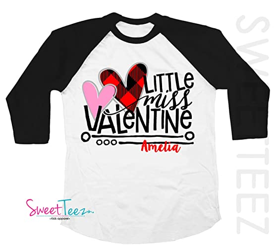 70a97f1614 Amazon.com: Valentine's Shirt Valentine's Day Gift For Girl Little ...