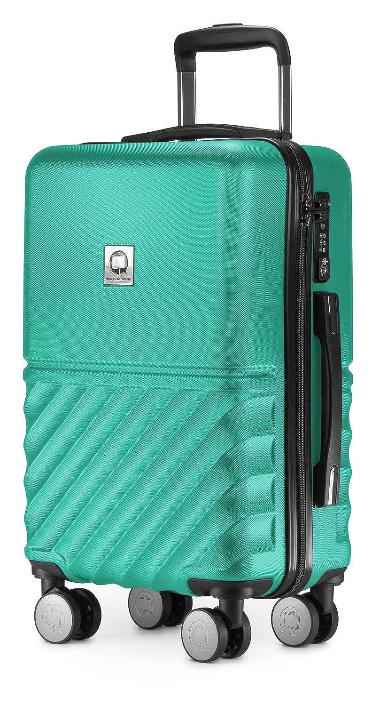 MAIN CITIZENS Boxi - 手荷物55 x 35 x 20 cmハードケーススーツケーストロリースーツケースTSAトラベルケース、4本入り、Bagaglio a mano 55 cm 29ターキー(ターコイズ) B0777KYFK9