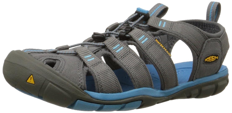 KEEN Women's Clearwater CNX Sandal B07CT9JJWL 37-38 M EU / 7 B(M) US Gargoyle/Norse Blue