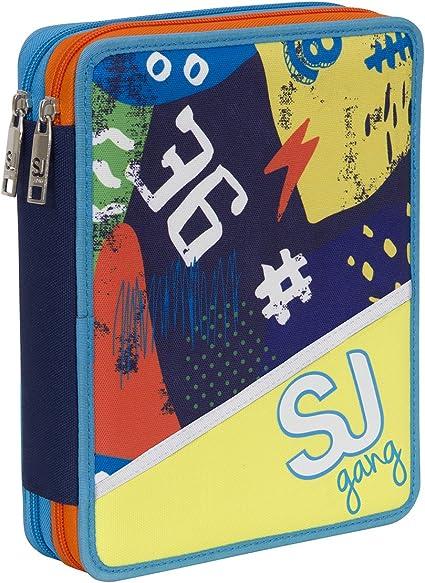 Seven - Estuche maxi Boy SJ.Gang, color amarillo: Amazon.es: Oficina y papelería