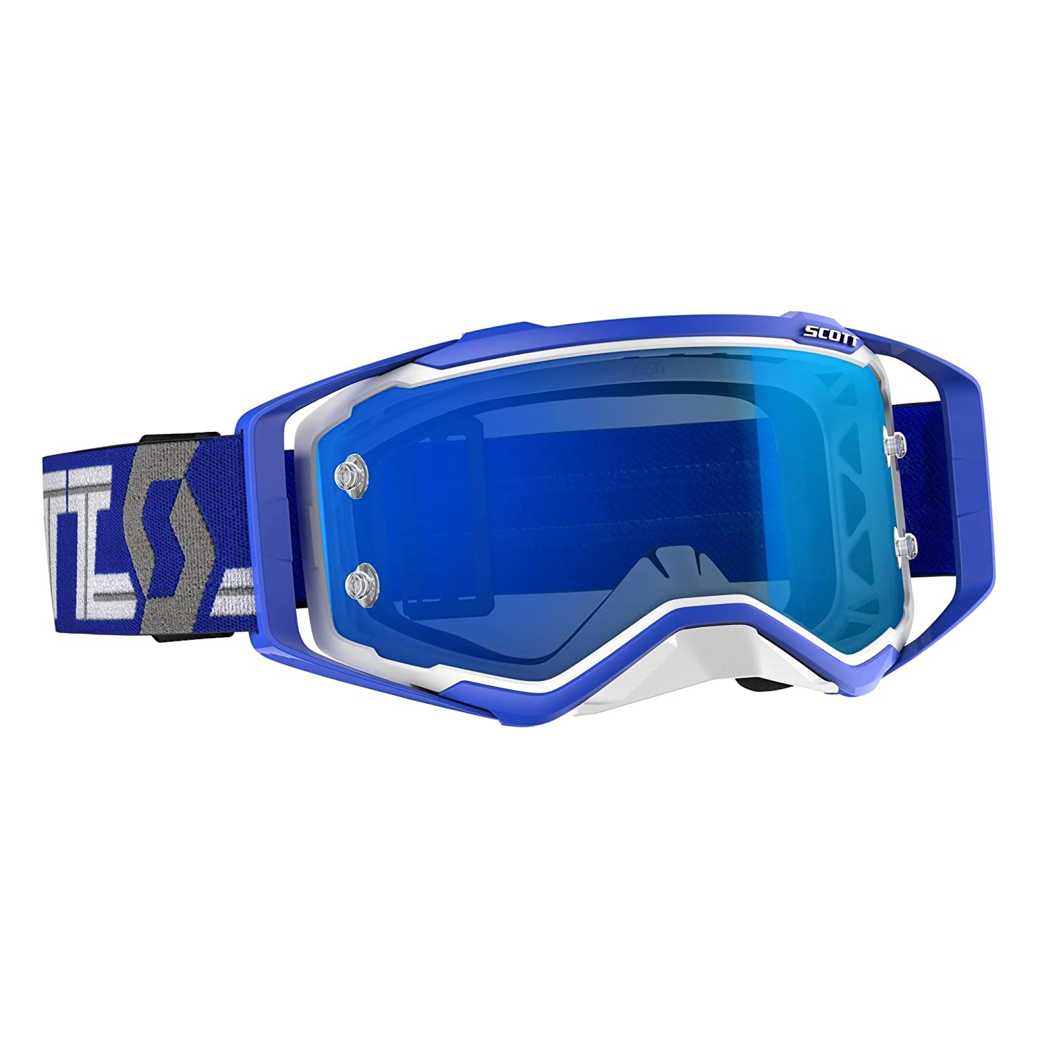 Scott Prospect Adult Off-Road Motorcycle Goggles White//Blue//Blue Chorme Works//One Size
