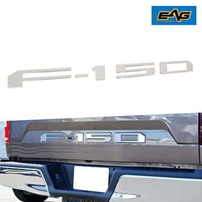 EAG Chrome Rear Tailgate Letter Insert Overlay Fit for 2020 2020 Ford F-150: Automotive