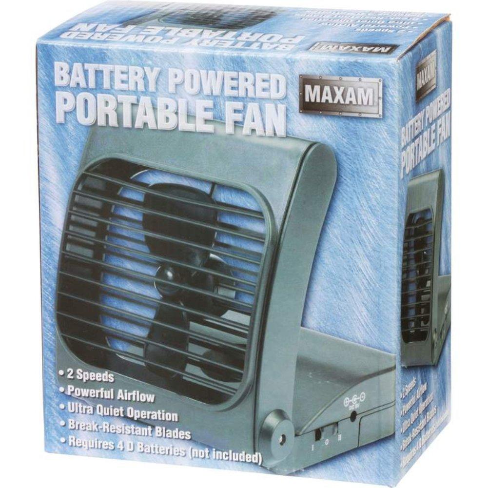 Maxam Bfgffan Battery Powered Portable Fan Electronics Solar Attic Backup System Components