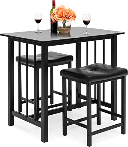 Best Choice Products 3-Piece Counter Height Dining Table Furniture Set