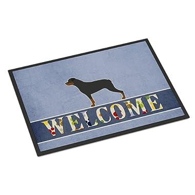 Caroline's Treasures BB5570JMAT Rottweiler Welcome Doormat, 24 x 36, Multicolor