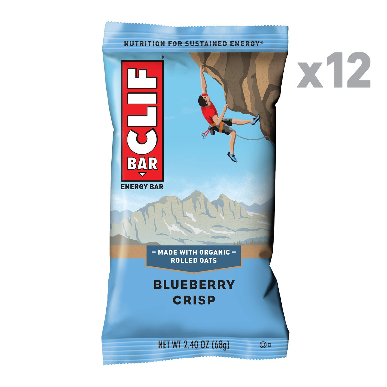 CLIF BAR - Energy Bar - Blueberry Crisp - (2.4 Ounce Protein Bar, 12 Count)