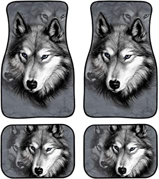 New Floormats Wolf Design Nice New 4 piece universal floormats.