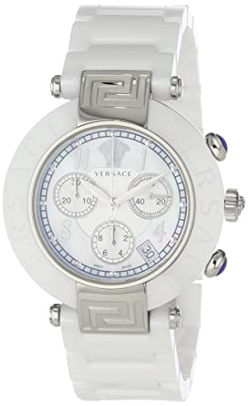 45a5e62a1 Image Unavailable. Image not available for. Color: Versace Women's  95CCS1D497 SC01 Reve Mother-Of-Pearl Dial Chronograph White Ceramic  Bracelet Watch