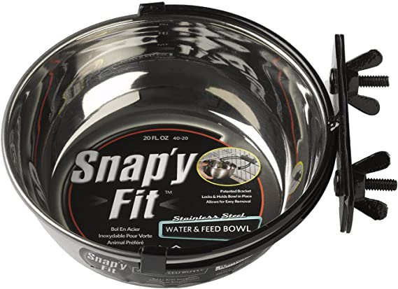 MidWest Homes for Pets Snap'y Fit Stainless Steel Bowl