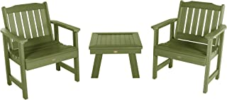 product image for highwood AD-KITCHGL2-SGE Lehigh 2 Garden Chairs with 1 Square Side Table, 3-Piece Set, Dried Sage