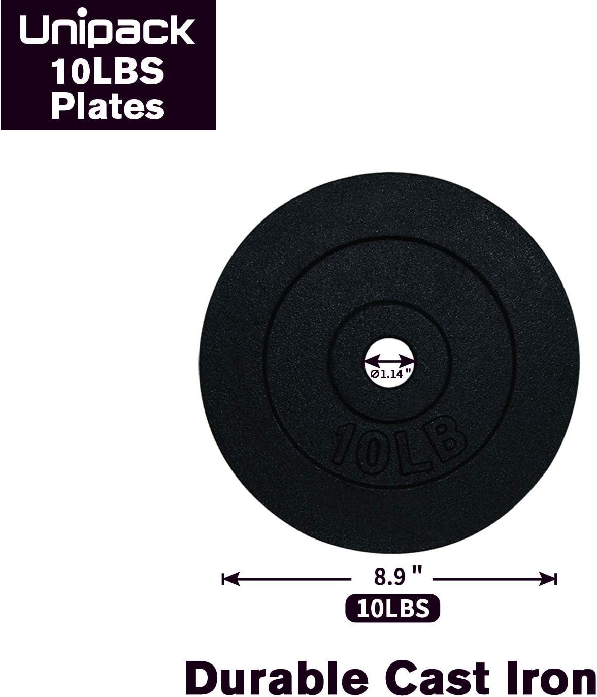 Sporting Goods Strength Training Set of 4X10LB 1 inch Cast Iron ...