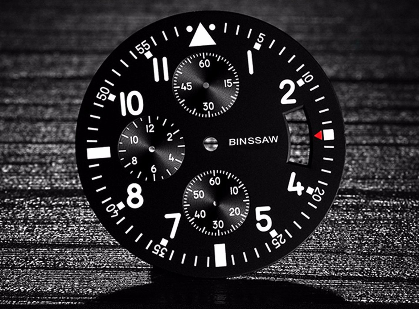 Men Quartz Sports Military Watch Luxury Brand Stainless Steel Calculagraph Luminous 100M Waterproof Watches by BINSSAW (Image #7)