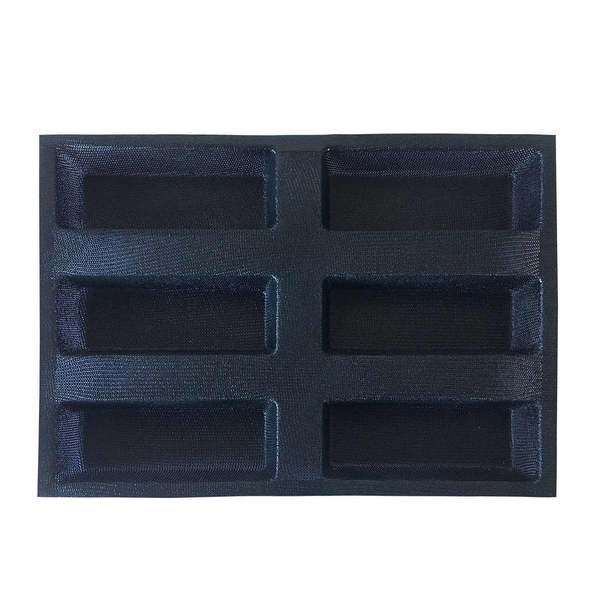 Bluedrop Silicone Bread Forms Square Shape Bread Molds Non Stick Bakery Trays Silicone Coated Fiber Glass 6 Caves Rectangle Moulds by Bluedrop (Image #7)