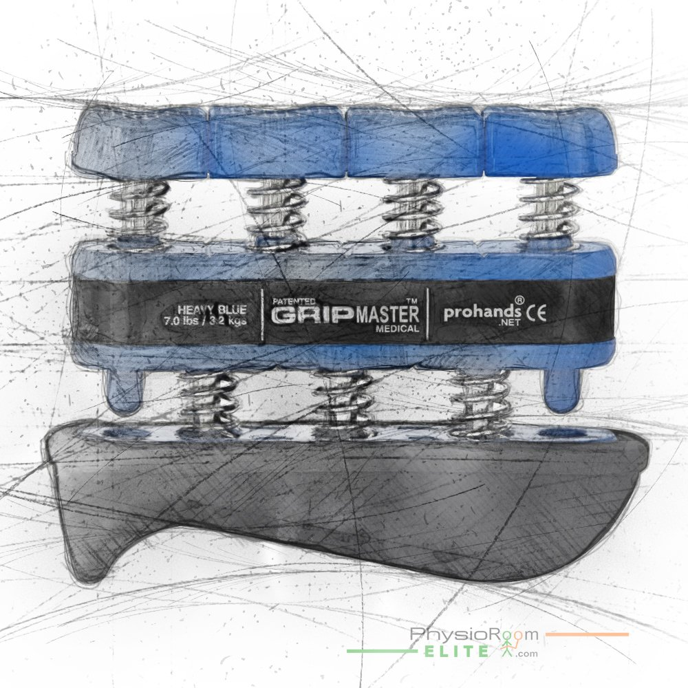 Prohands Gripmaster Medical Hand Exerciser Heavy Blue - Rehabilitation, Hand Strengthener, Improves Grip, Exercise, Improves Digit Function, Aids Arthritis, Helps Stability, Finger Strength and Dexterity, Sports, Golf, Tennis, Rock Climbing, Musician by Physio Room (Image #3)