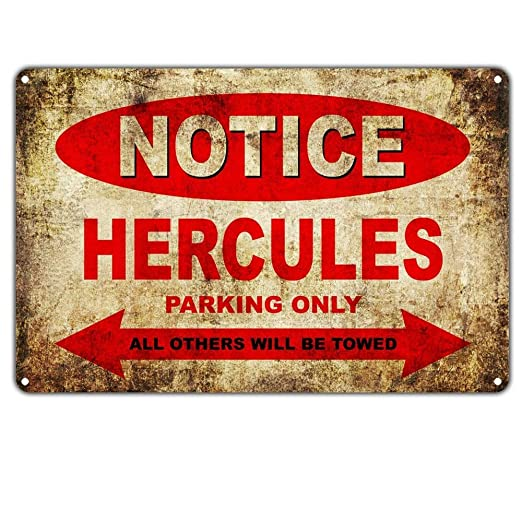 HiSign Notice Hercules Motorcycles Parking Only Retro Cartel ...