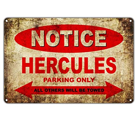 Shunry Notice Hercules Motorcycles Parking Only Placa Cartel ...