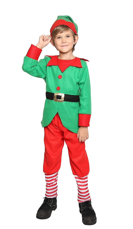 Amazon.com: Disfraz de elfo de Navidad para niños y niñas ...