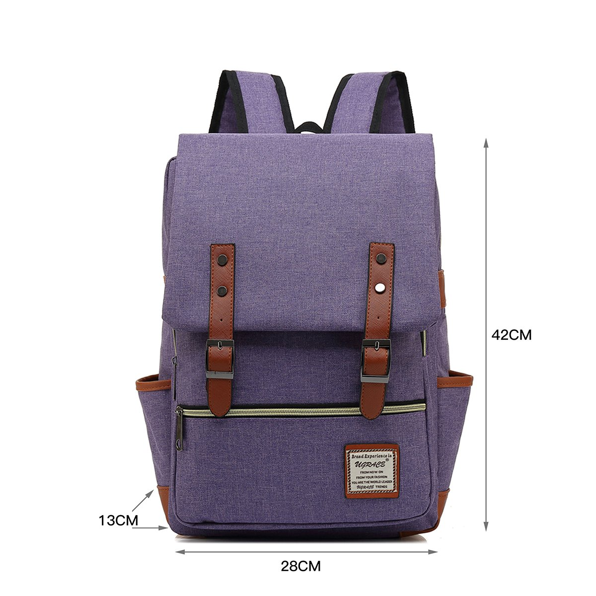 UGRACE Slim Business Laptop Backpack Elegant Casual Daypacks Outdoor Sports Rucksack School Shoulder Bag for Men Women, Tear Resistant Unique Travelling Backpack Fits up to 15.6Inch Macbook in Violet by UGRACE (Image #2)