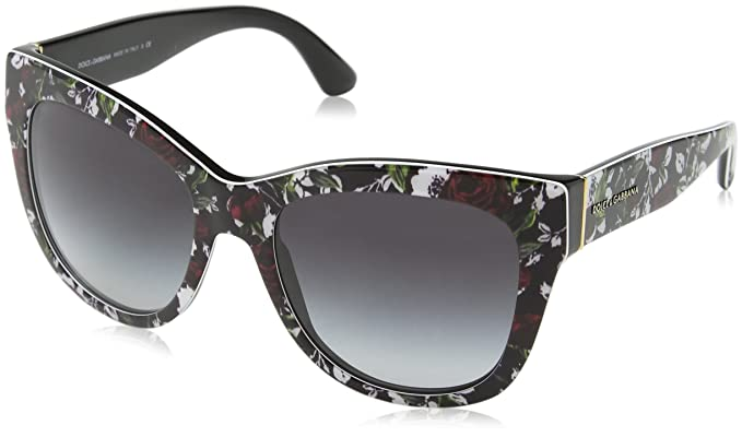 326198aac25c Dolce & Gabbana Women's 0dg4270, Top Print Rose/Black/Grey Gradient, ...