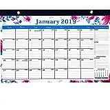 "2019 Desk Calendar October 2018 - December 2019 17"" x 12"" Teacher Monthly Desk Pad Calendar Academic Year, Large Size,Ruled Blocks"
