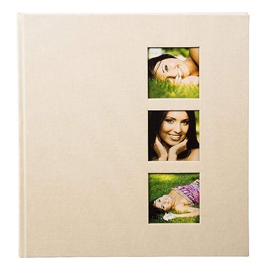goldbuch-fotoalbum-mit-3-fensterausschnitten-style-30-x-31-cm-60-weisse-seiten-mit-pergamin-trennblttern-leinen-beige-27624