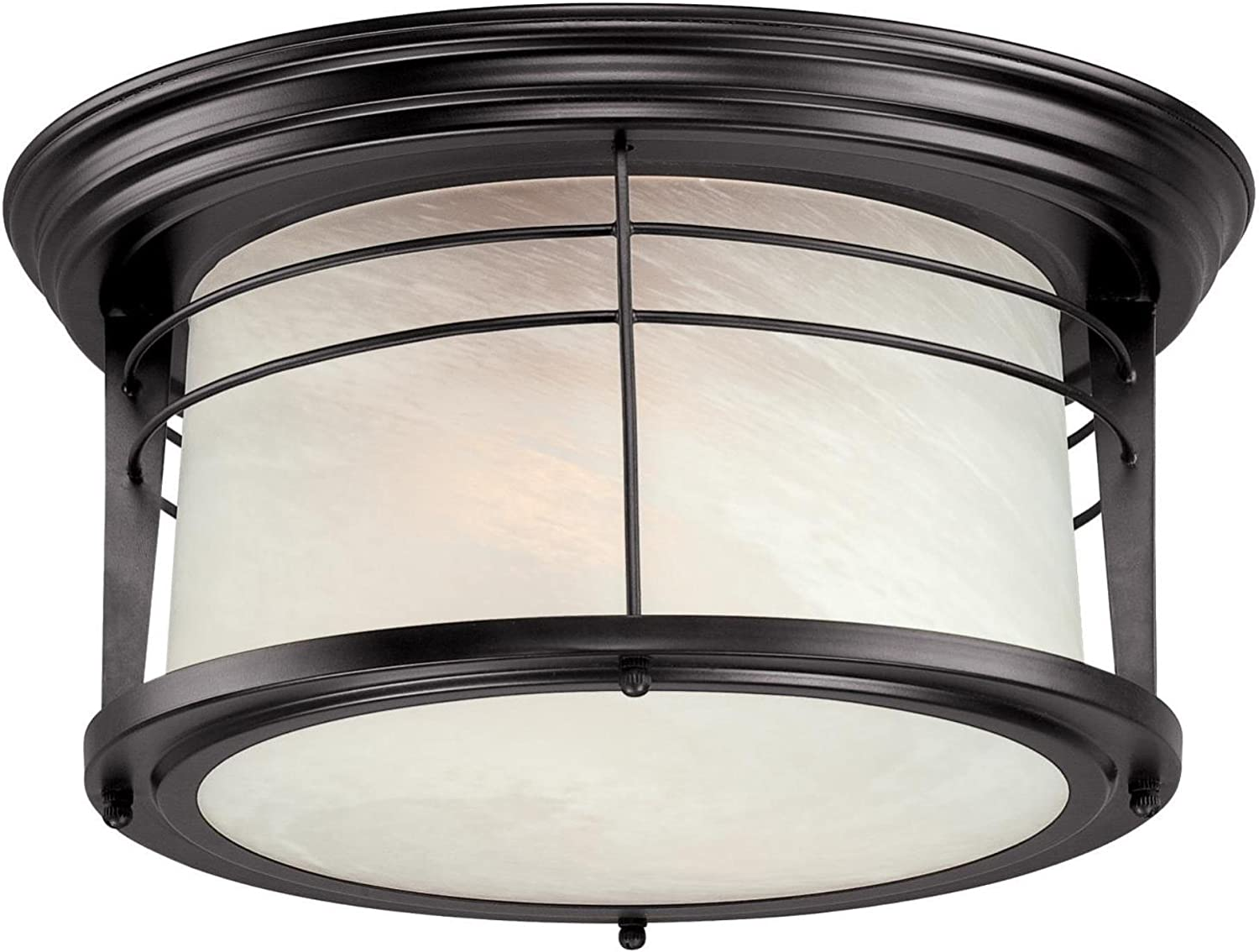 Westinghouse Lighting 05937003861 Westinghouse 6674600 Senecaville Two Light Exterior Flush Mount Fixture Weathered Bronze Finish On Steel With White Alabaster Glass 1 Ceiling Porch Lights Amazon Com