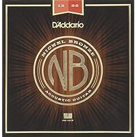 D'Addario Cuerdas bronce niquelado para guitarra acústica, Mediano, Medium, 13-56