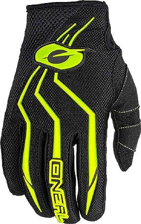 O Neal Fahrrad Motocross Handschuhe Mx Mtb Mountainbike Enduro Motorrad Sichere Passform Ergonomische Polsterung Tpr Streifen Element Glove Erwachsene Schwarz Neon Gelb Größe M Oneal Auto