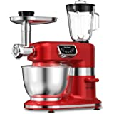 Aifeel Stand Mixer 800W, 7QT Bowl , 8 in 1 Multifunctional Kitchen Mixer with Dough Hook, Whisk, Beater, Meat Grinder, Blende
