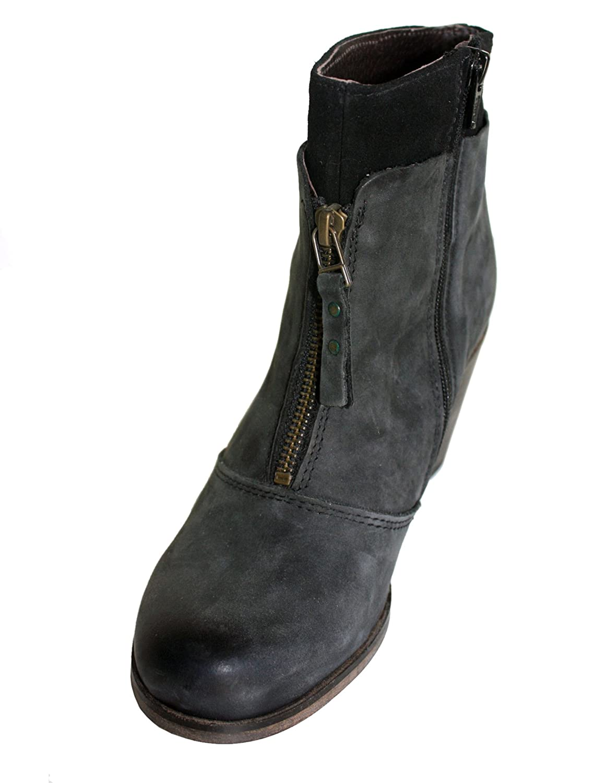 Lazamani - Botas Antideslizantes de cuero mujer, color negro, talla 39