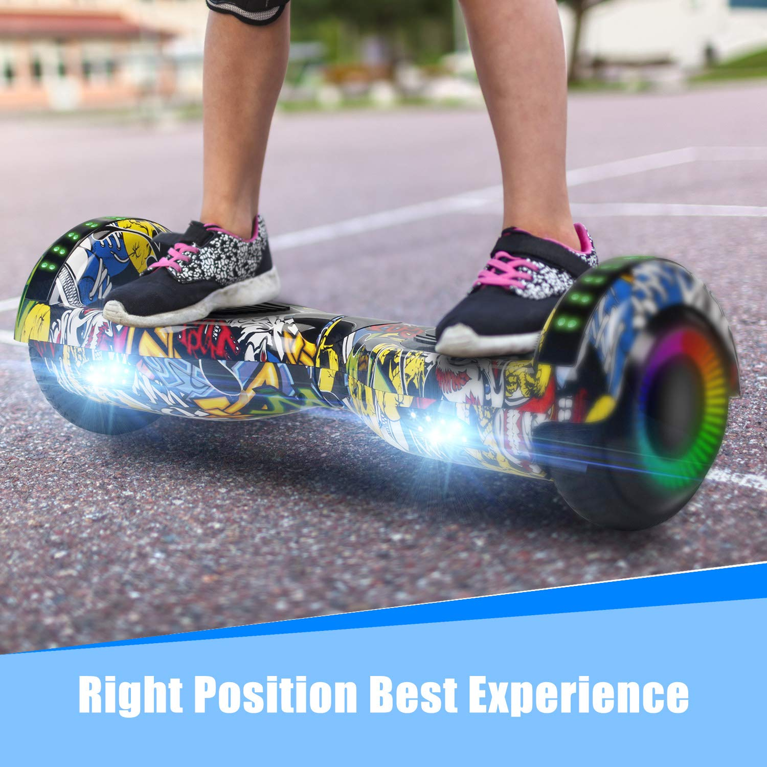 SWEETBUY Hoverboard Two-Wheel Self Balancing Electric Scooter UL 2272 Certified,6.5 inch Self Balancing Scooter with Carry Bag by SWEETBUY (Image #7)