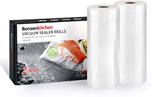 Bonsenkitchen Food Saver Bags Rolls, 2 Pack 6