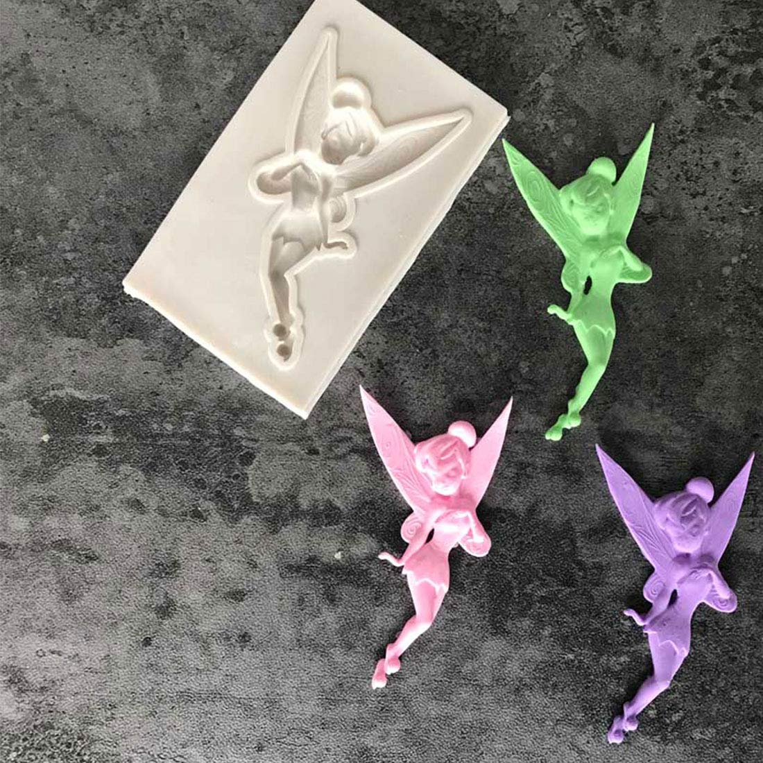 Childhood Flower Fairy Silicone Mold Gumpaste Chocolate Clay Candy Molds Fondant Cake Decorating Tools DIY