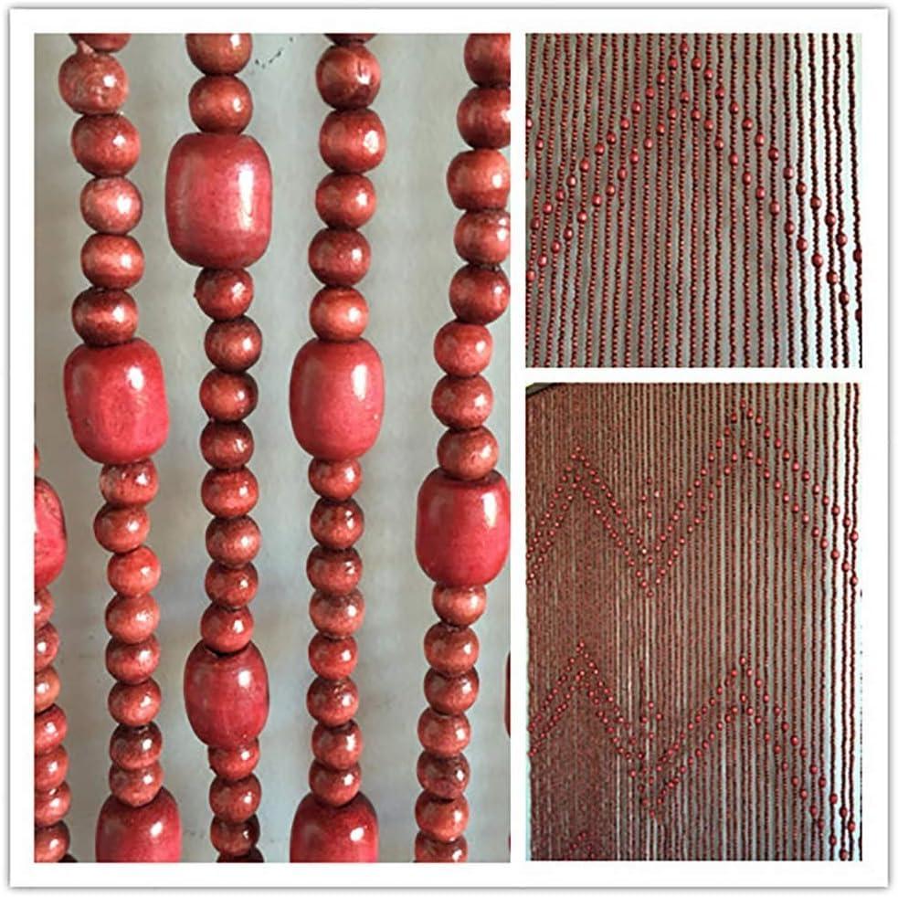 KTDT Cortinas moldeadas Cuerdas de Madera Divisor de habitación para Puerta Dormitorio Panel de Pared Retro Panel de decoración (Color: B, Tamaño: 63 Cuerdas-1.0x1.98m)