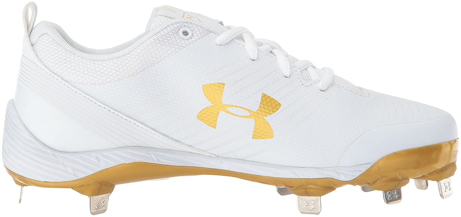 Under Armour Women's Glyde St Softball Shoe B06XCQWVLW 9 M US|White (101)/Metallic Gold