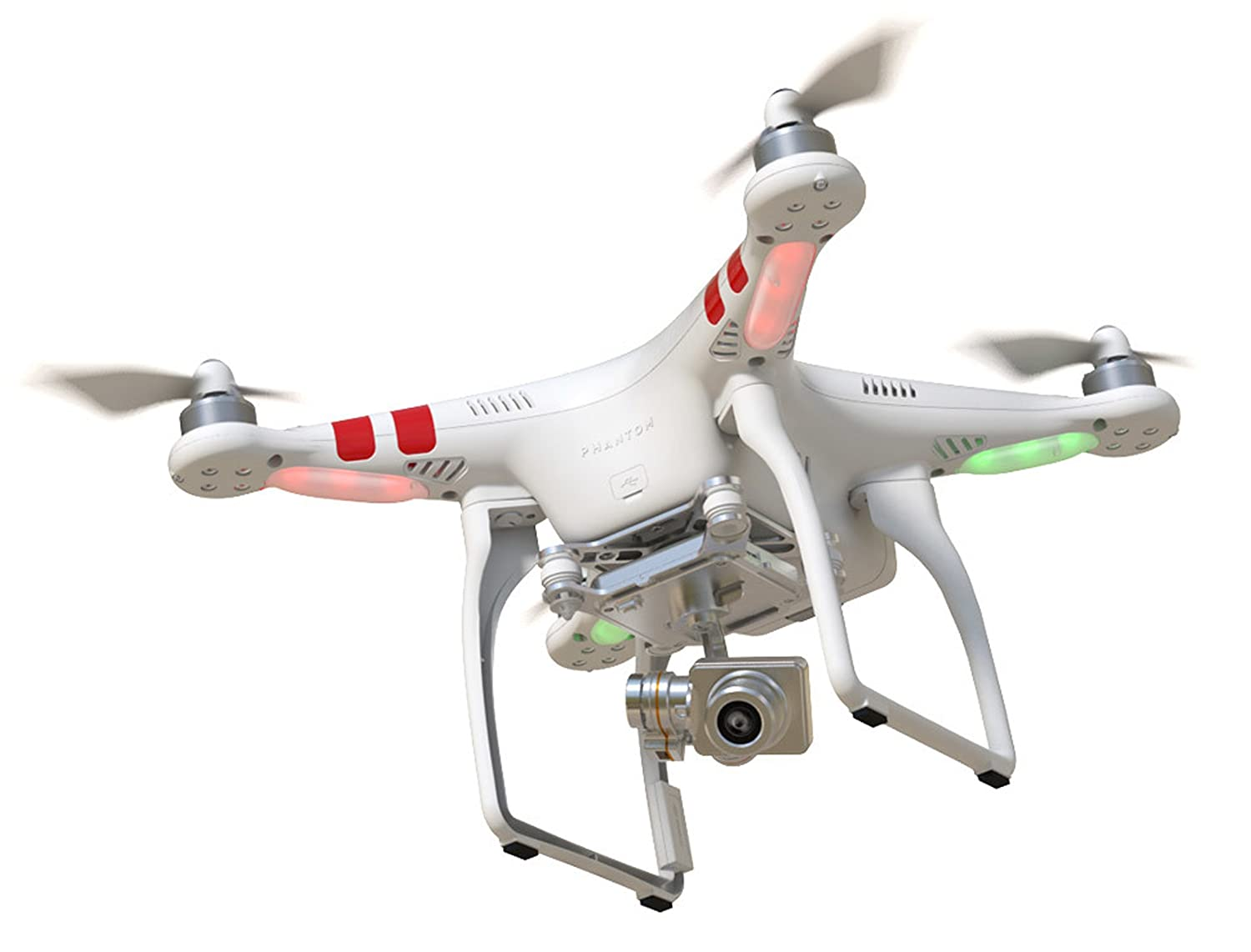 Amazon DJI Phantom 2 Vision V30 Quadcopter With FPV HD Video Camera And 3 Axis Gimbal White Photo