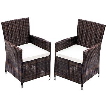Miadomodo – Juego de 2 sillones de jardín de poliratán - Color a Elegir