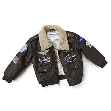 068c71f92c6 Amazon.com  Brown Aviator Jacket-Youth  COLOR  BROWN  Clothing