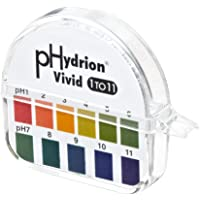 Micro Essential Lab 51 Hydrion Wide Range pH Test Paper Dispenser, 1-11 pH, Single Roll